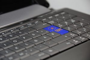 Laptop keyboard with GDPR enter key
